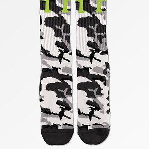 HUF Camo crew socks
